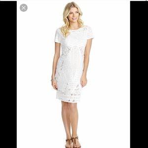 Jessica Simpson Maternity white cutout dress